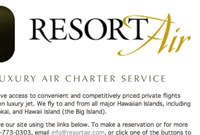 Resort Air Hawai'i :: www.resortair.com